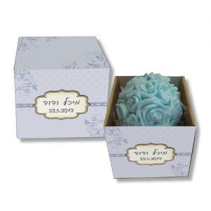 פרח סבון ריחני בקופסא מעוצבת