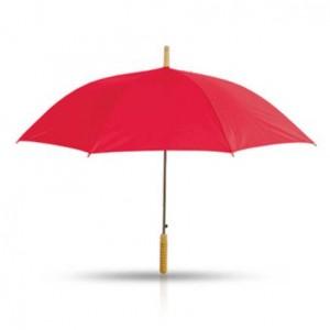 מטרייה עם מוט עץ