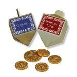 סביבון עם מטבעות שוקולד