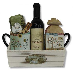 מארז שפע עם יין ספל, חליטה ופרפר