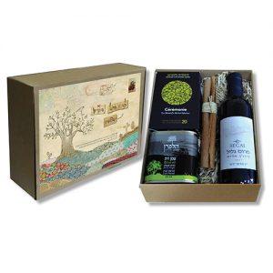מתנה עם יין שמן תה וקינמון