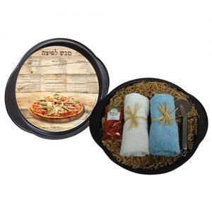 מגש לפיצה גלגלת מגבות ותערובת לפיצה